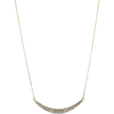 Panacea Curved Crystal Bar Necklace
