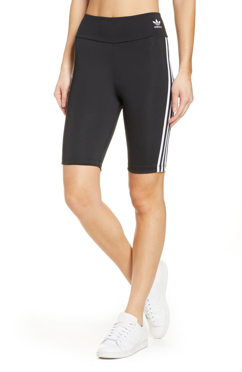 ADIDAS ORIGINALS Bike Shorts, Main, color, BLACK/ WHITE