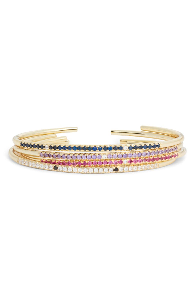 BRACHA Living Color Crystal Bracelet, Main, color, GOLD/ CHAMPAGNE