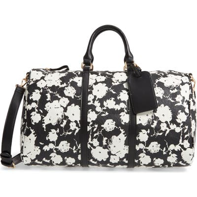 Sole Society Cassidy Faux Leather Duffle Bag - Black