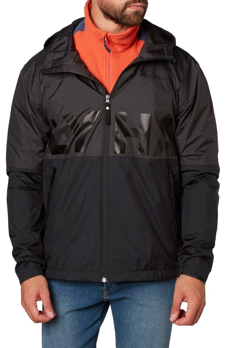 HELLY HANSEN Amaze Regular Fit Waterproof Jacket, Main, color, 001