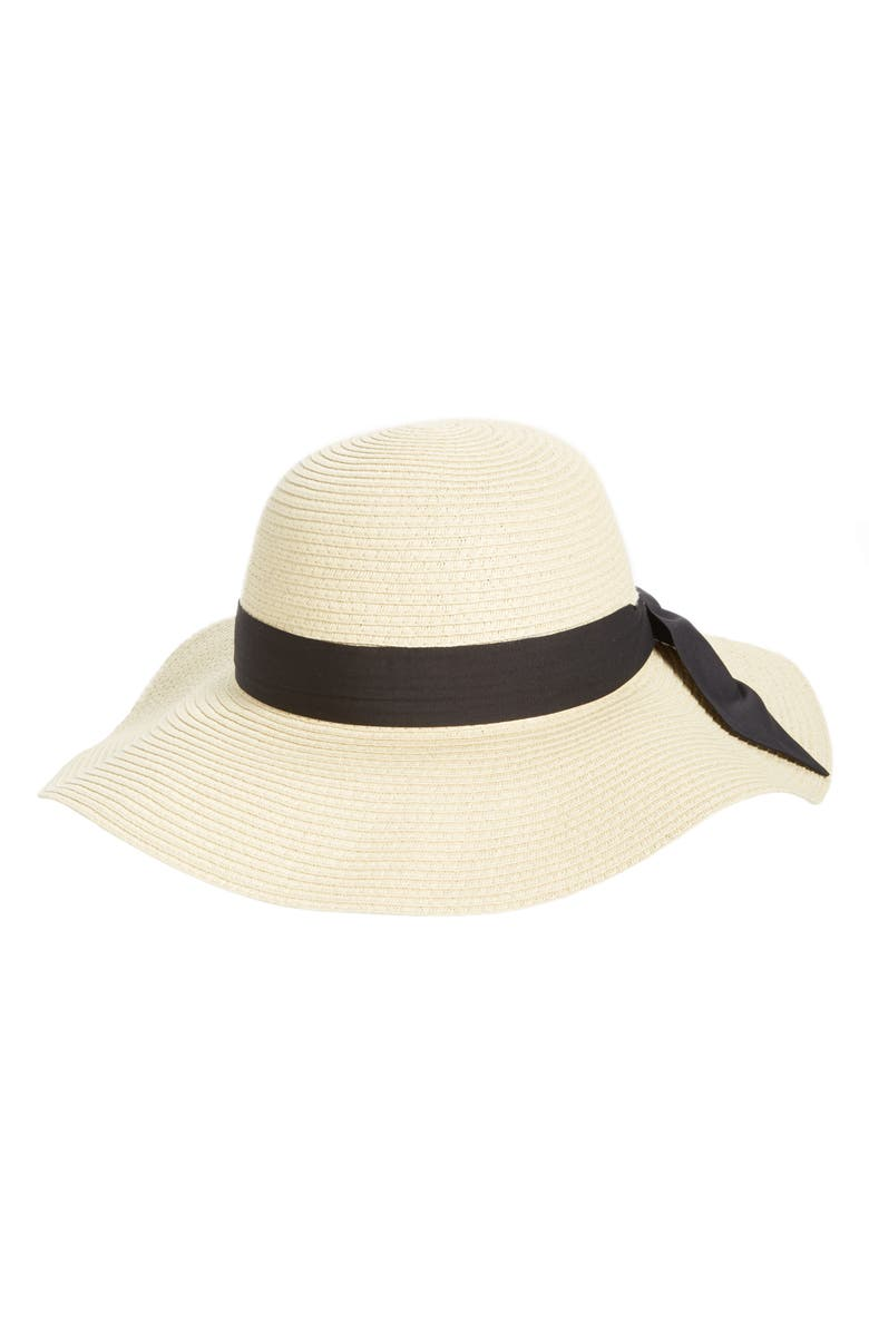 BP. Bow Band Floppy Straw Hat, Main, color, 260