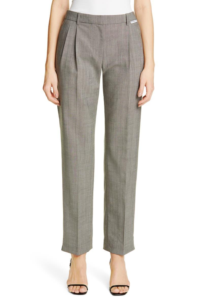 ALEXANDER WANG Wool & Mohair Blend Trousers, Main, color, GREY
