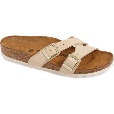 Birkenstock Yao Slide Sandal, Beige