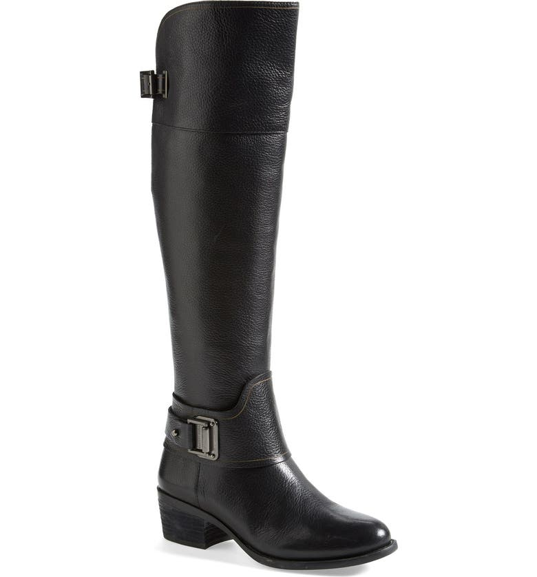 VINCE CAMUTO 'Basira' Leather Riding Boot, Main, color, 002