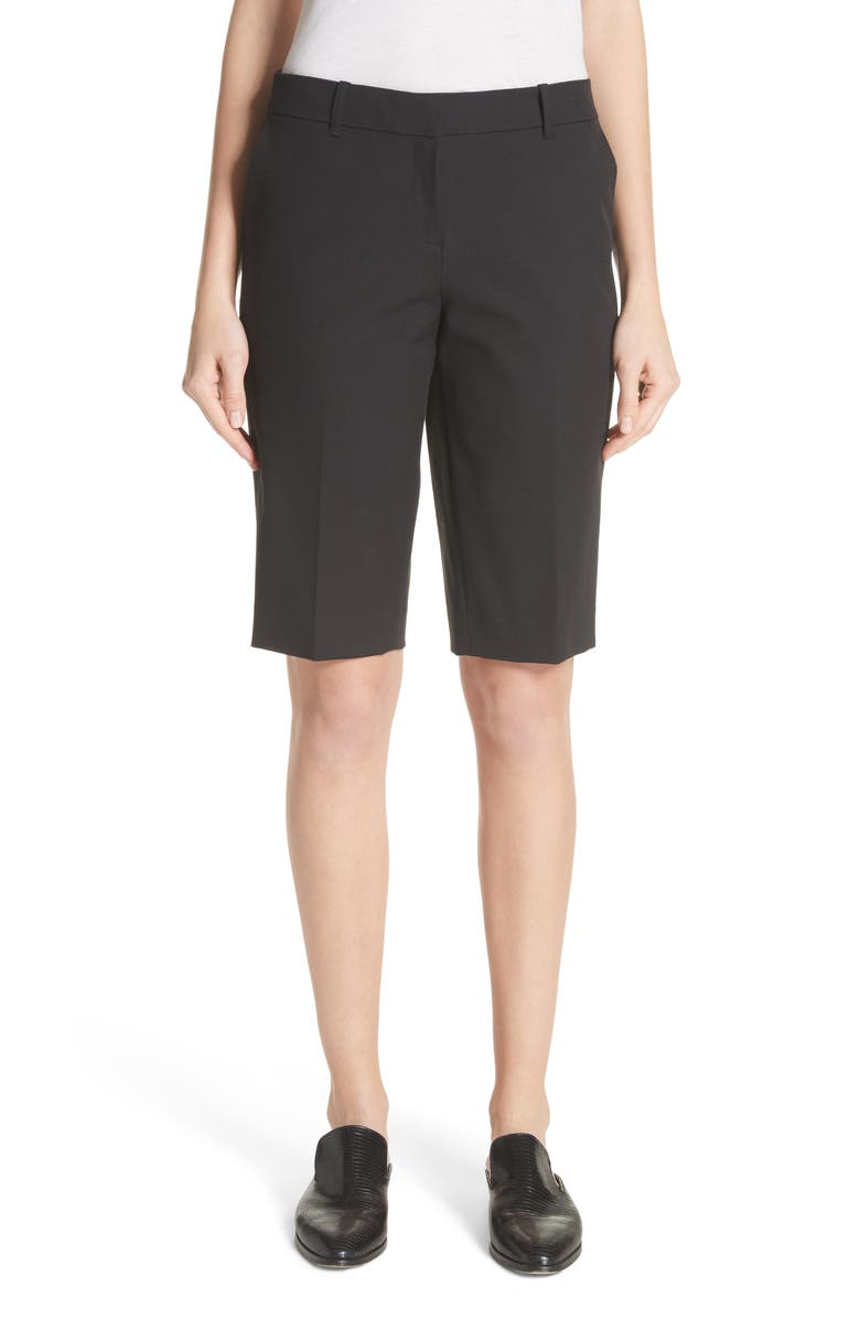 LAFAYETTE 148 NEW YORK Manhattan Bermuda Shorts, Main, color, 001