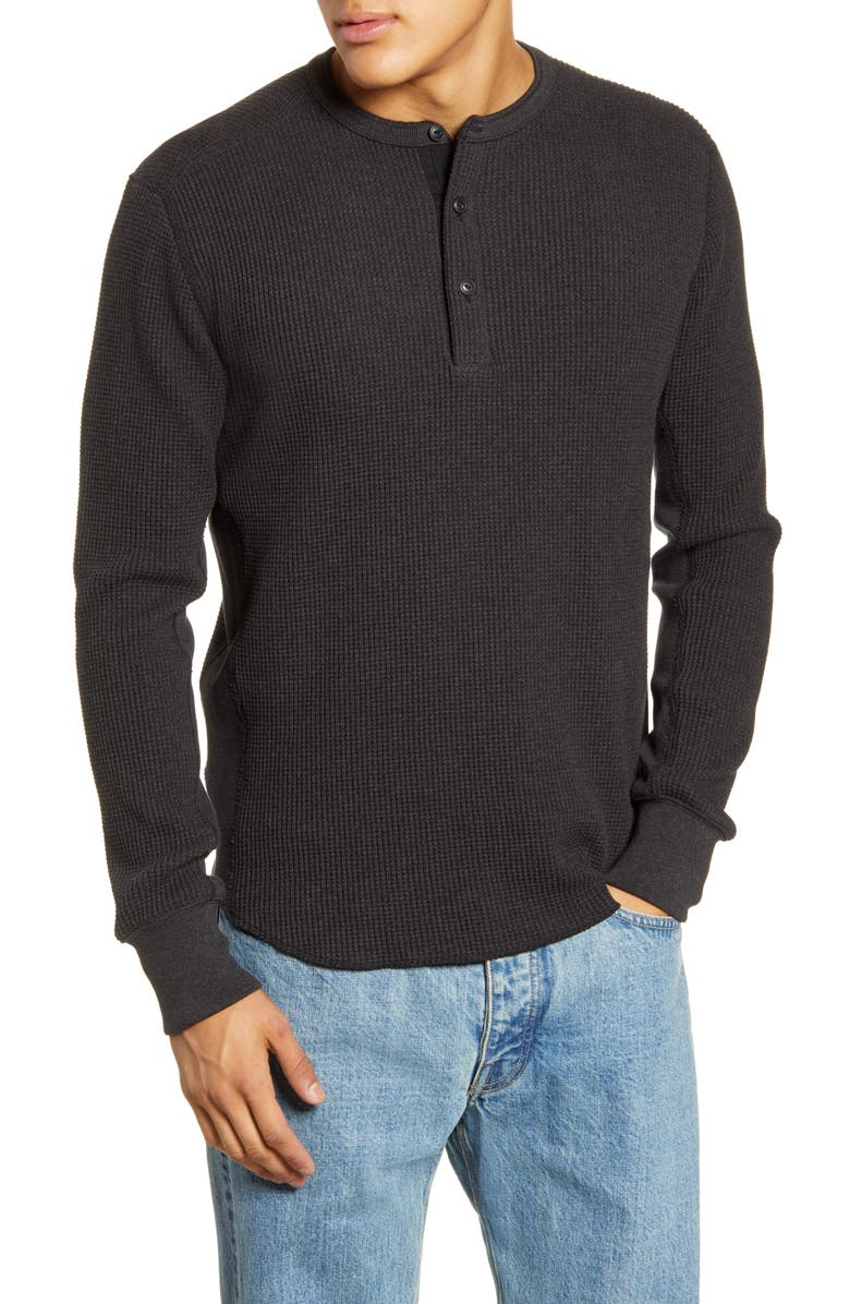 RAG & BONE Thermal Henley, Main, color, CHARCOAL
