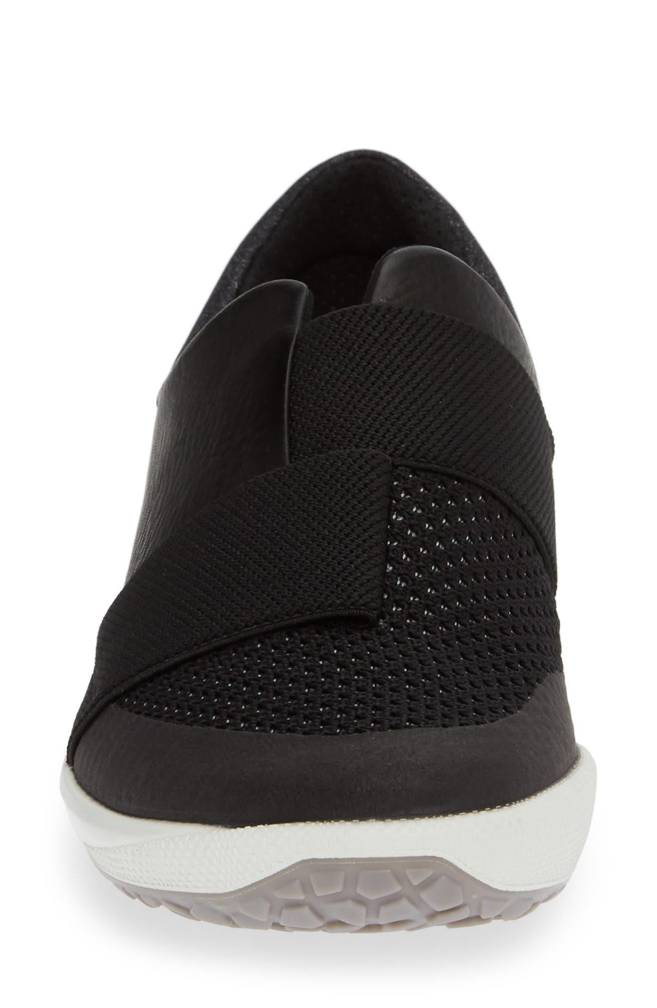 ,                             BIOM Slip-On Sneaker,                             Alternate thumbnail 4, color,                             BLACK LEATHER