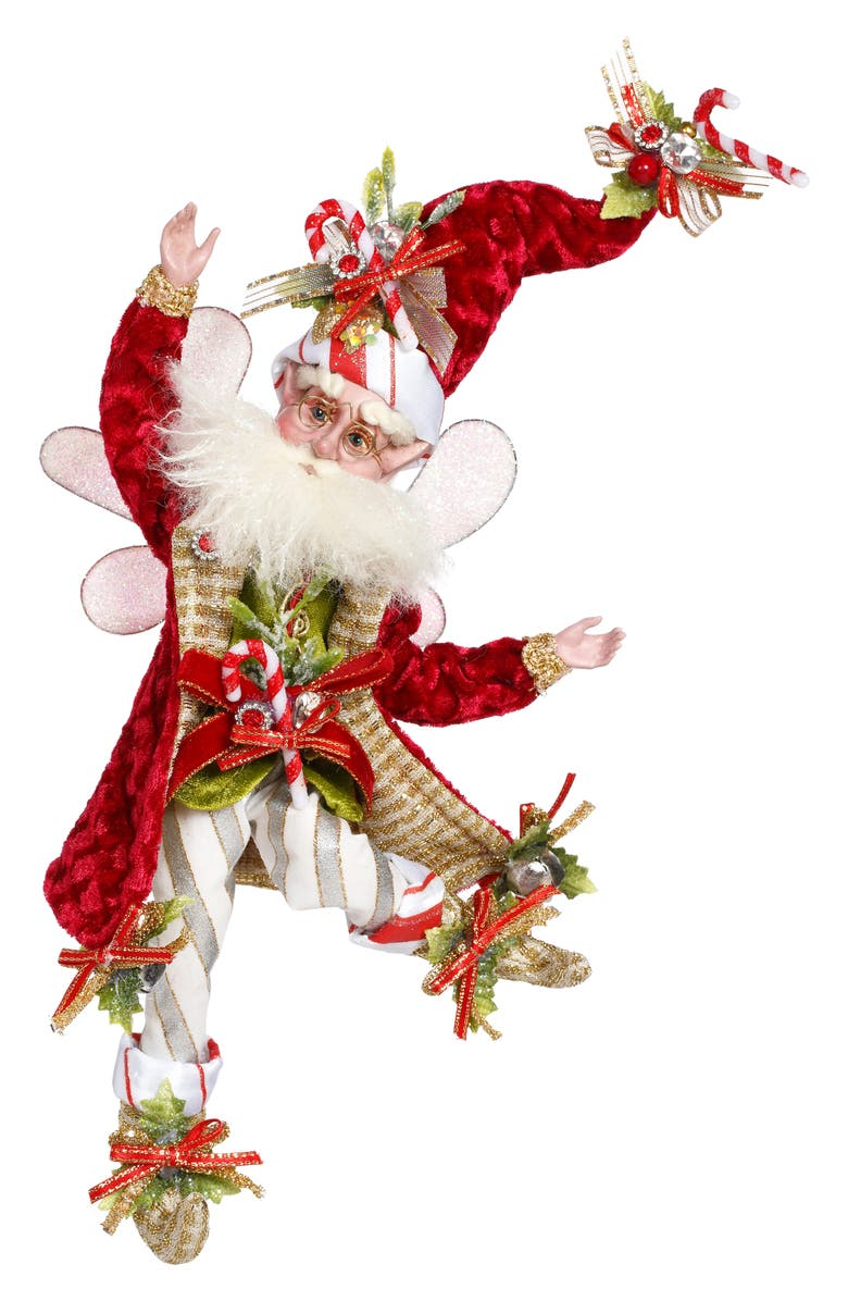 MARK ROBERTS Candy Cane Fairy, Main, color, RED SMALL