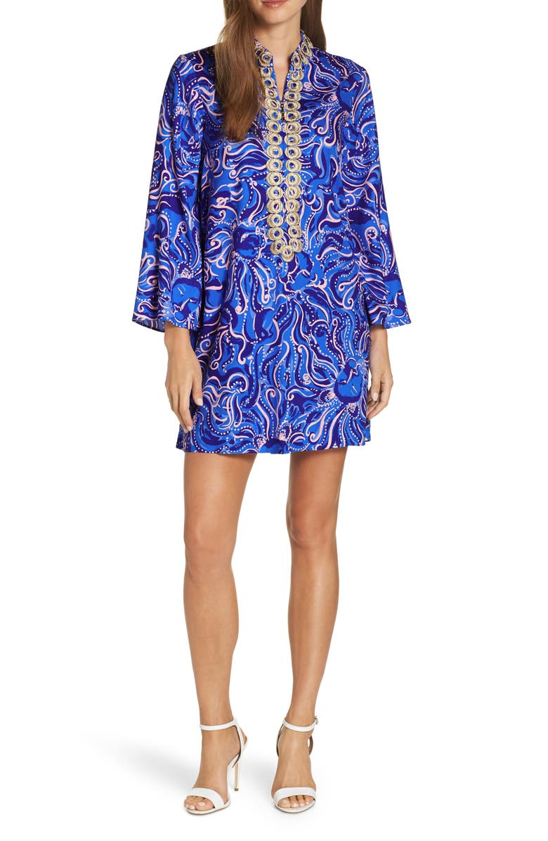 LILLY PULITZER<SUP>®</SUP> Gracelynn Tunic Dress, Main, color, COASTAL BLUE WHISPURR
