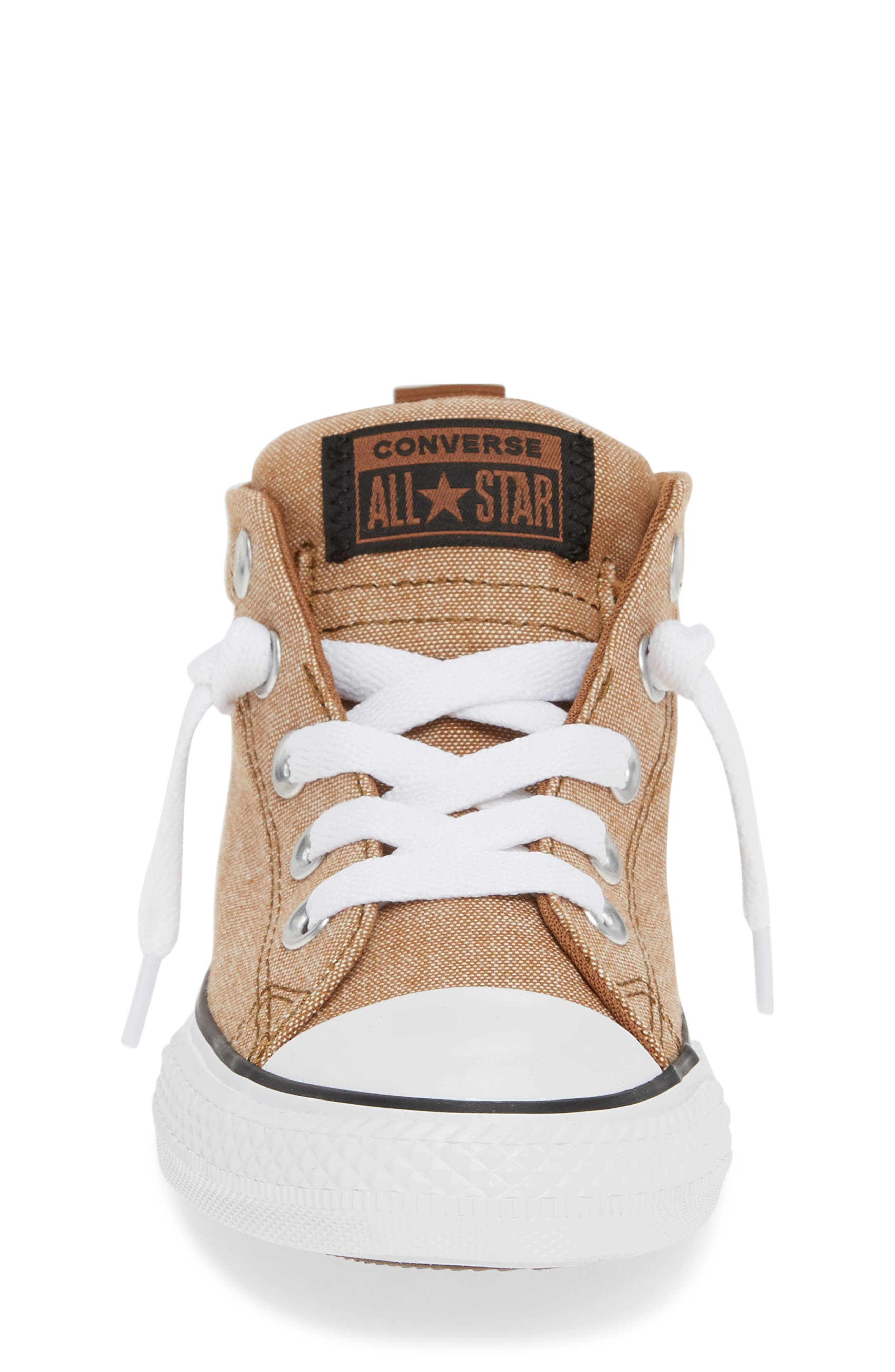 ,                             Chuck Taylor<sup>®</sup> All Star<sup>®</sup> Street Mid Top Sneaker,                             Alternate thumbnail 4, color,                             ALE BROWN/ BLACK/ WHITE