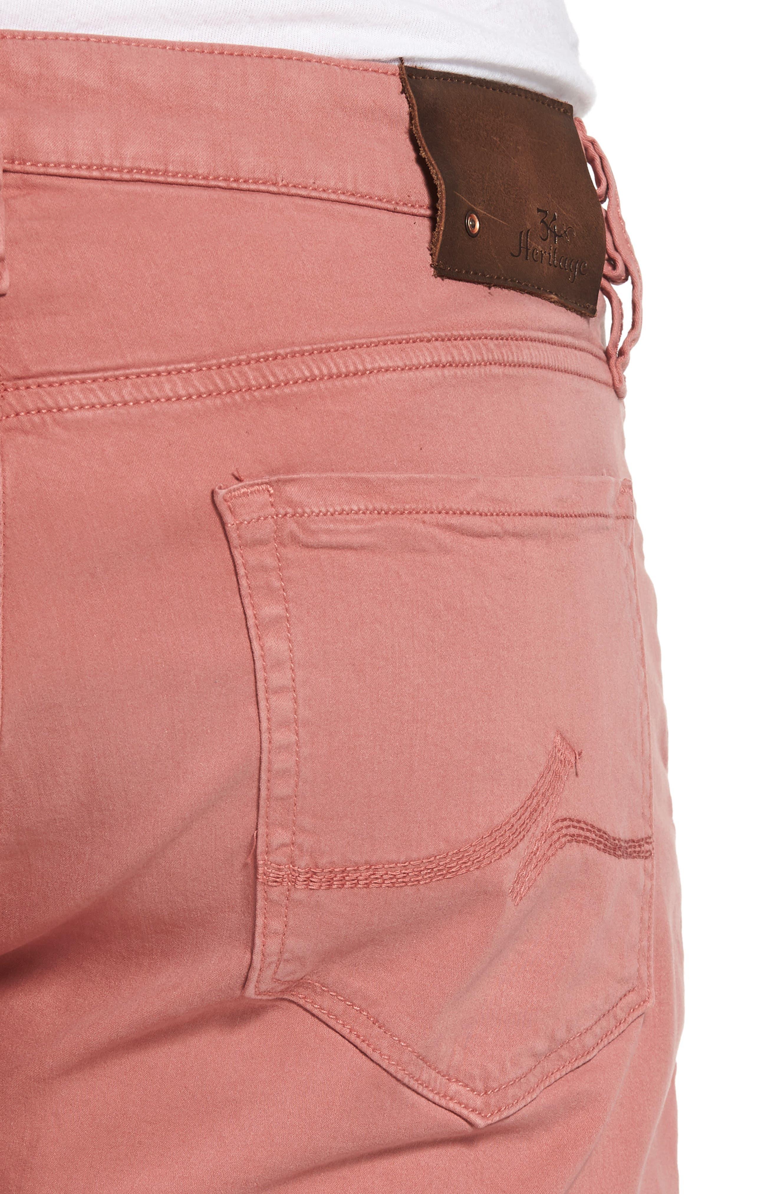 ,                             Courage Straight Leg Twill Pants,                             Alternate thumbnail 4, color,                             BRICK TWILL