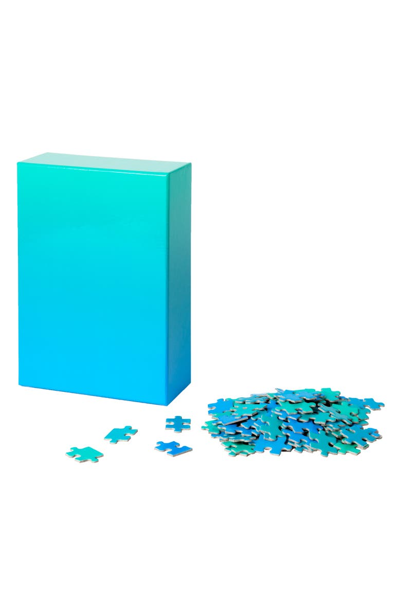 AREAWARE Gradient Jigsaw Puzzle, Main, color, BLUE/ GREEN