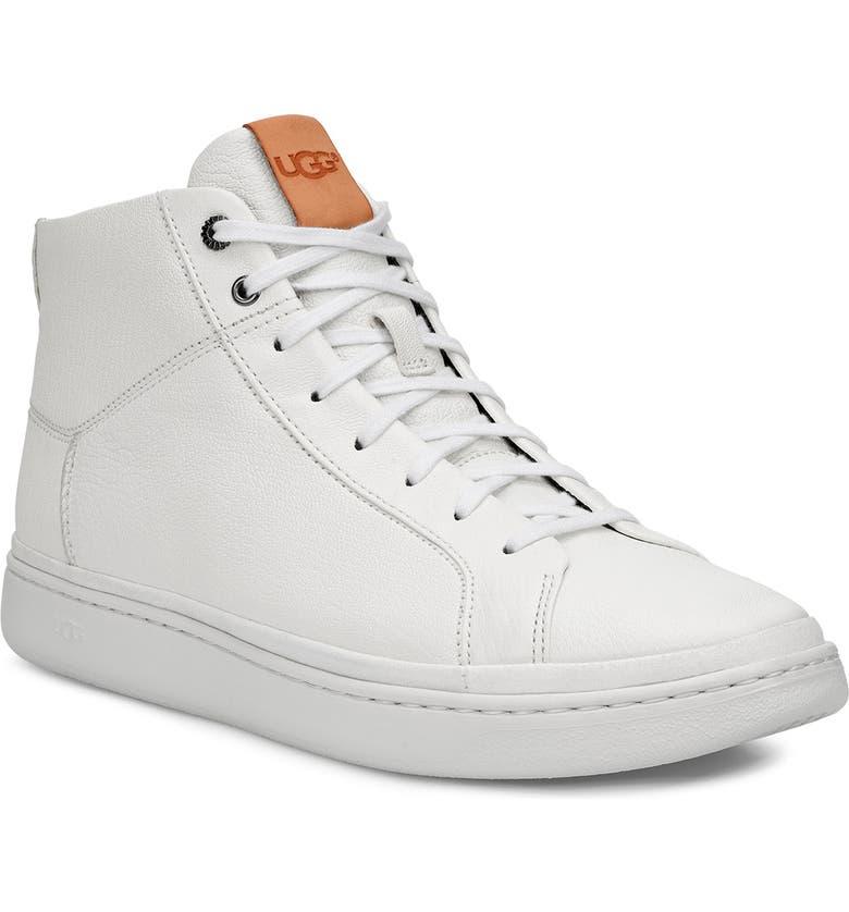 UGG<SUP>®</SUP> Cali High Top Sneaker, Main, color, WHITE
