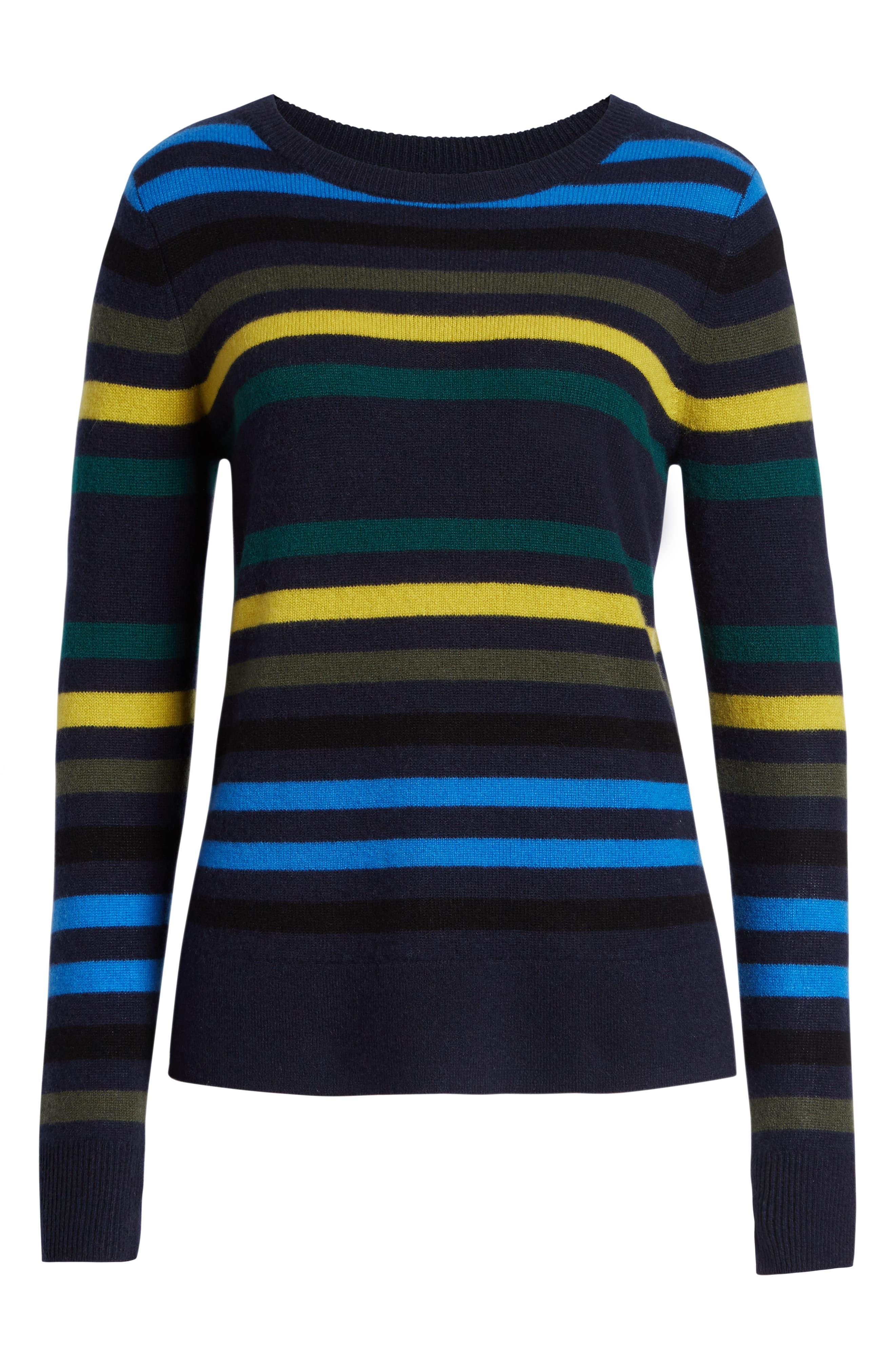 ,                             Crewneck Cashmere Sweater,                             Alternate thumbnail 107, color,                             412