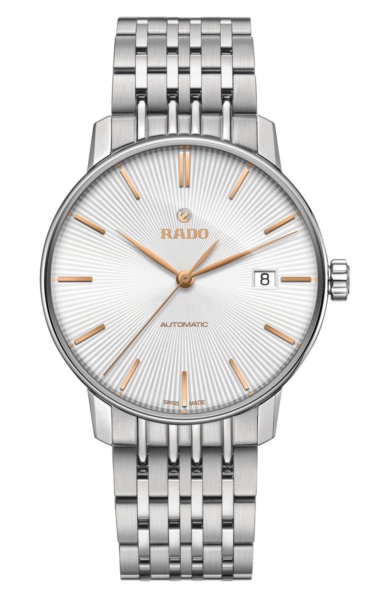 RADO Coupole Classic Automatic Bracelet Watch, 37.7mm, Main, color, SILVER/ GOLD