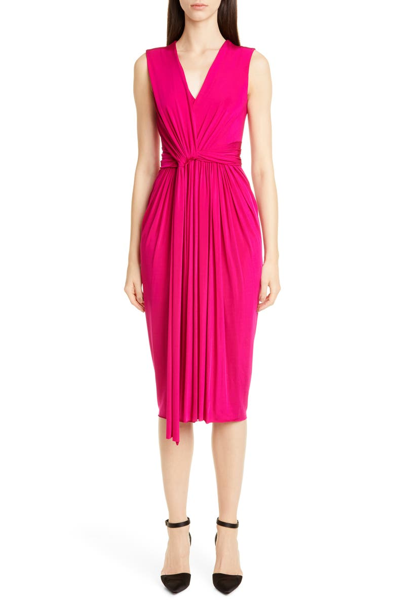 JASON WU COLLECTION Twist Front Jersey Evening Dress, Main, color, FUSCHIA