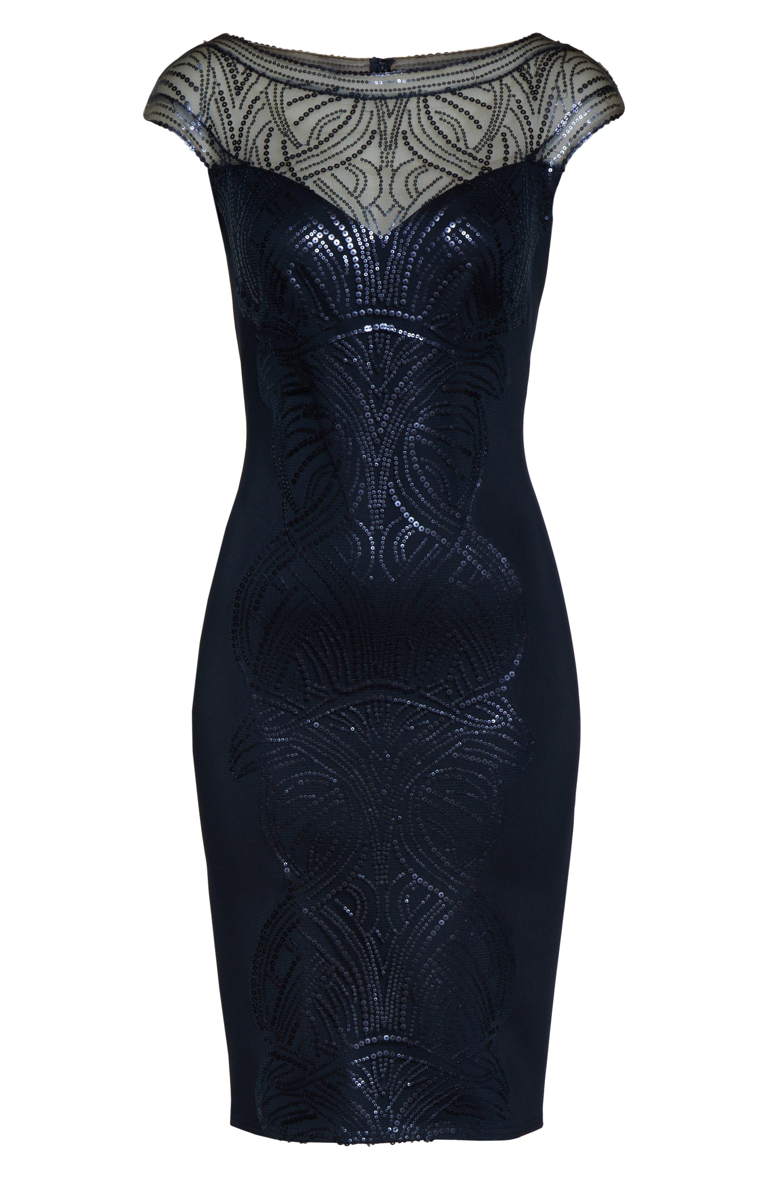 ,                             Sequin Sheath Dress,                             Alternate thumbnail 7, color,                             NAVY