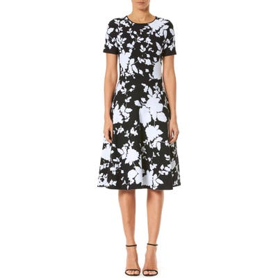 Carolina Herrera Floral Jacquard Dress, Black
