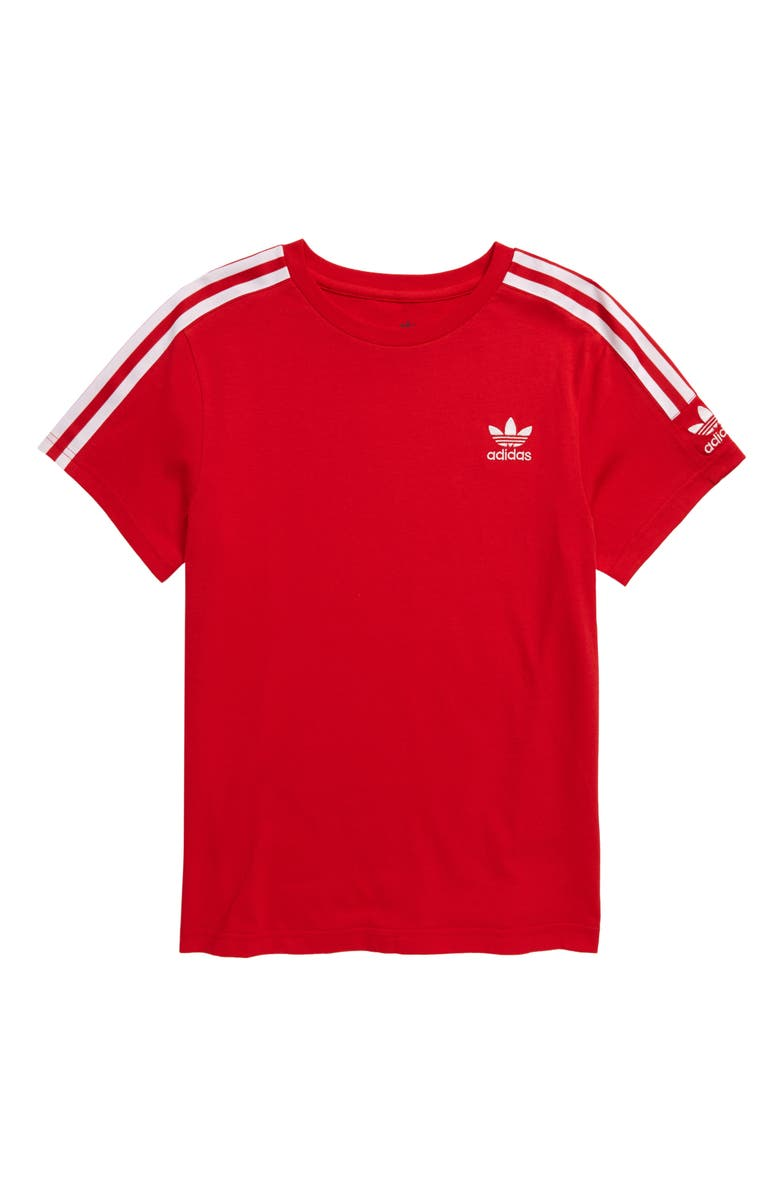 ADIDAS ORIGINALS New Icon T-Shirt, Main, color, RED/ WHITE