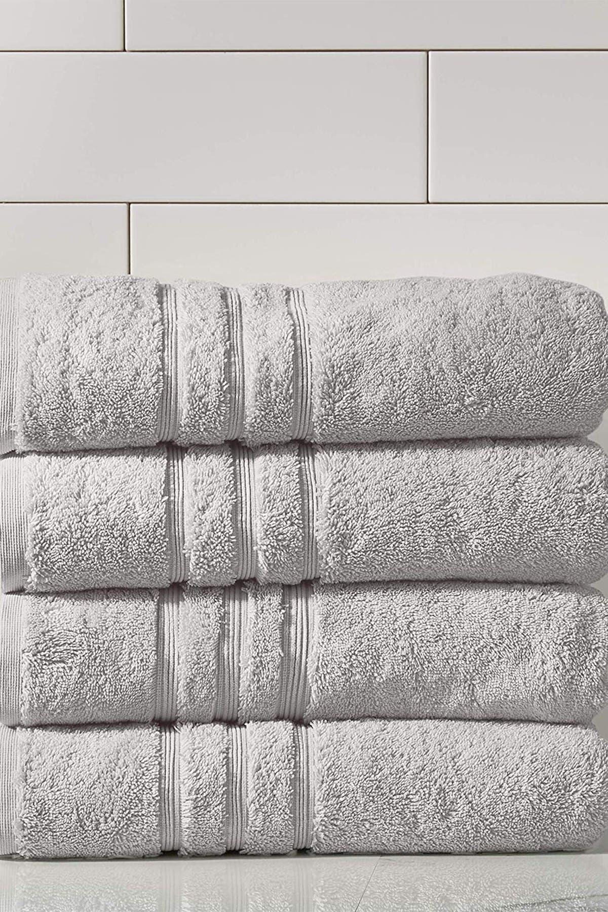 Image of Modern Threads Manor Ridge Turkish Cotton 700 GSM Bath Towel - Set of 4 - Grey