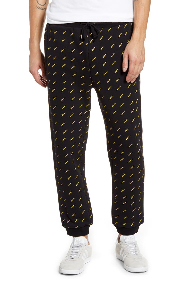 WESC Vibes Graphic Jogger Sweatpants, Main, color, VIBES AOP
