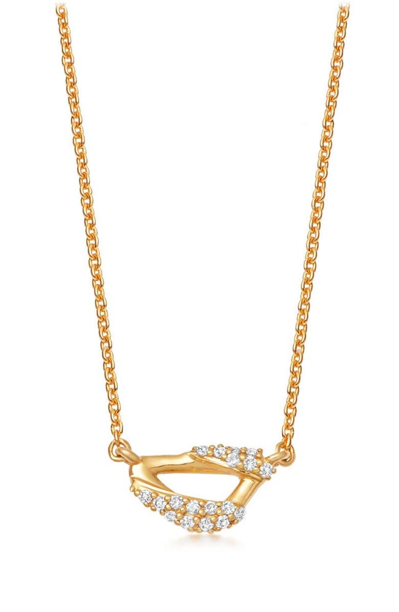 ASTLEY CLARKE Mini Vela Pendant Necklace, Main, color, YELLOW GOLD/ DIAMOND