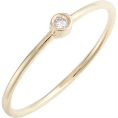 Argento Vivo Bezel Cubic Zirconia Ring