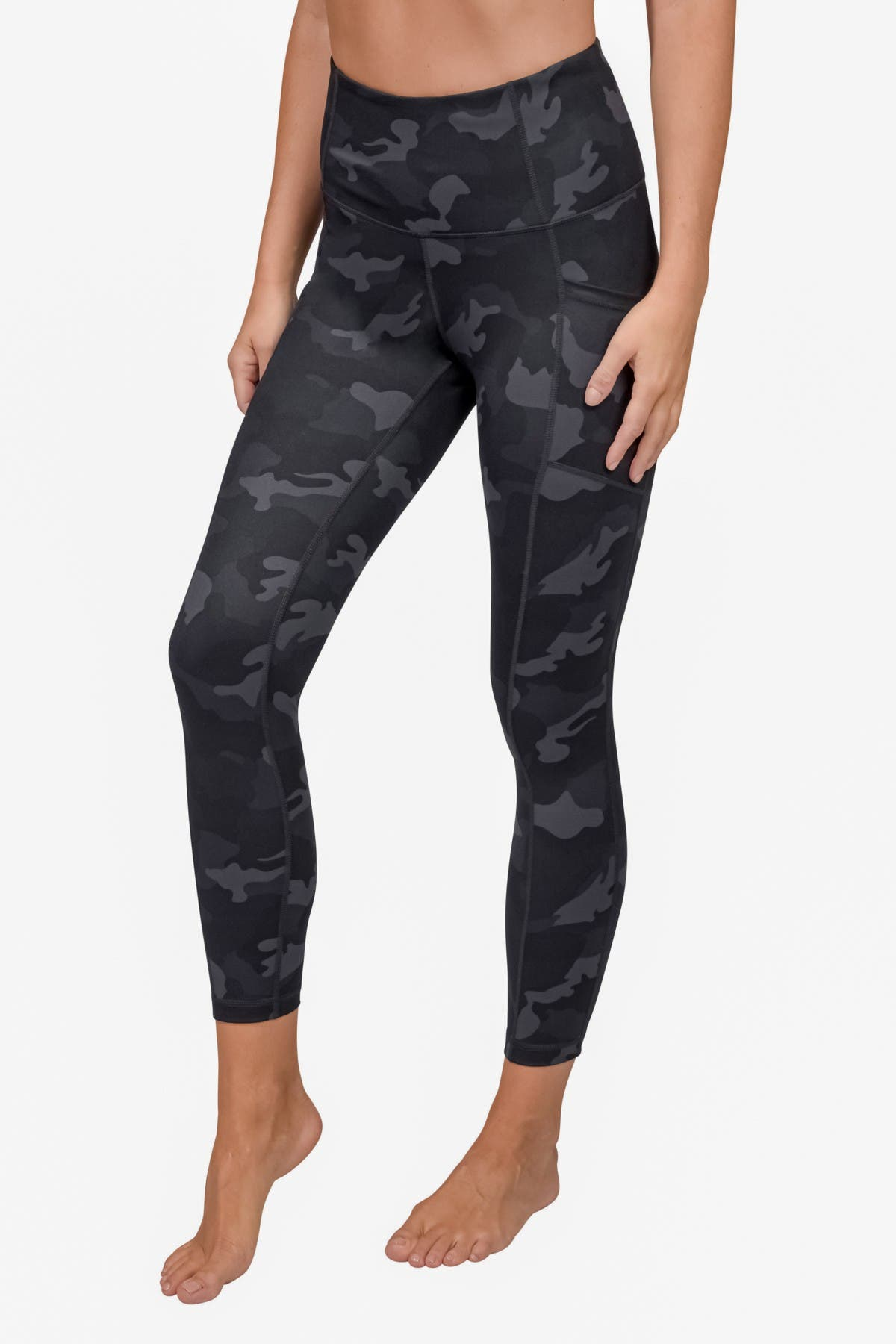 Image of 90 Degree By Reflex Yogalicious Lux Camo High Waisted Side Pocket Leggings