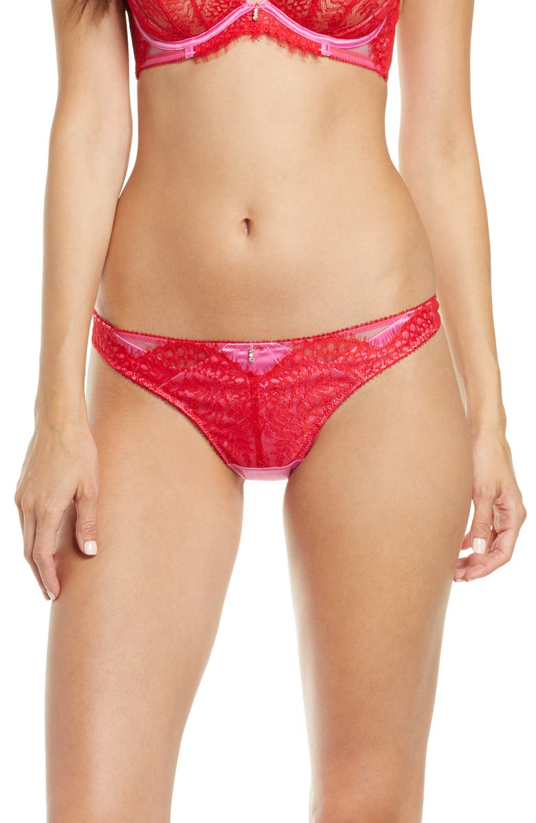 ANN SUMMERS Lovers Spark Lace Thong, Main, color, PINK