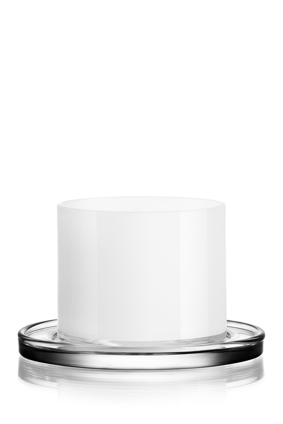 Image of Orrefors White Karl Lagerfeld Tumbler Glass - Set of 2