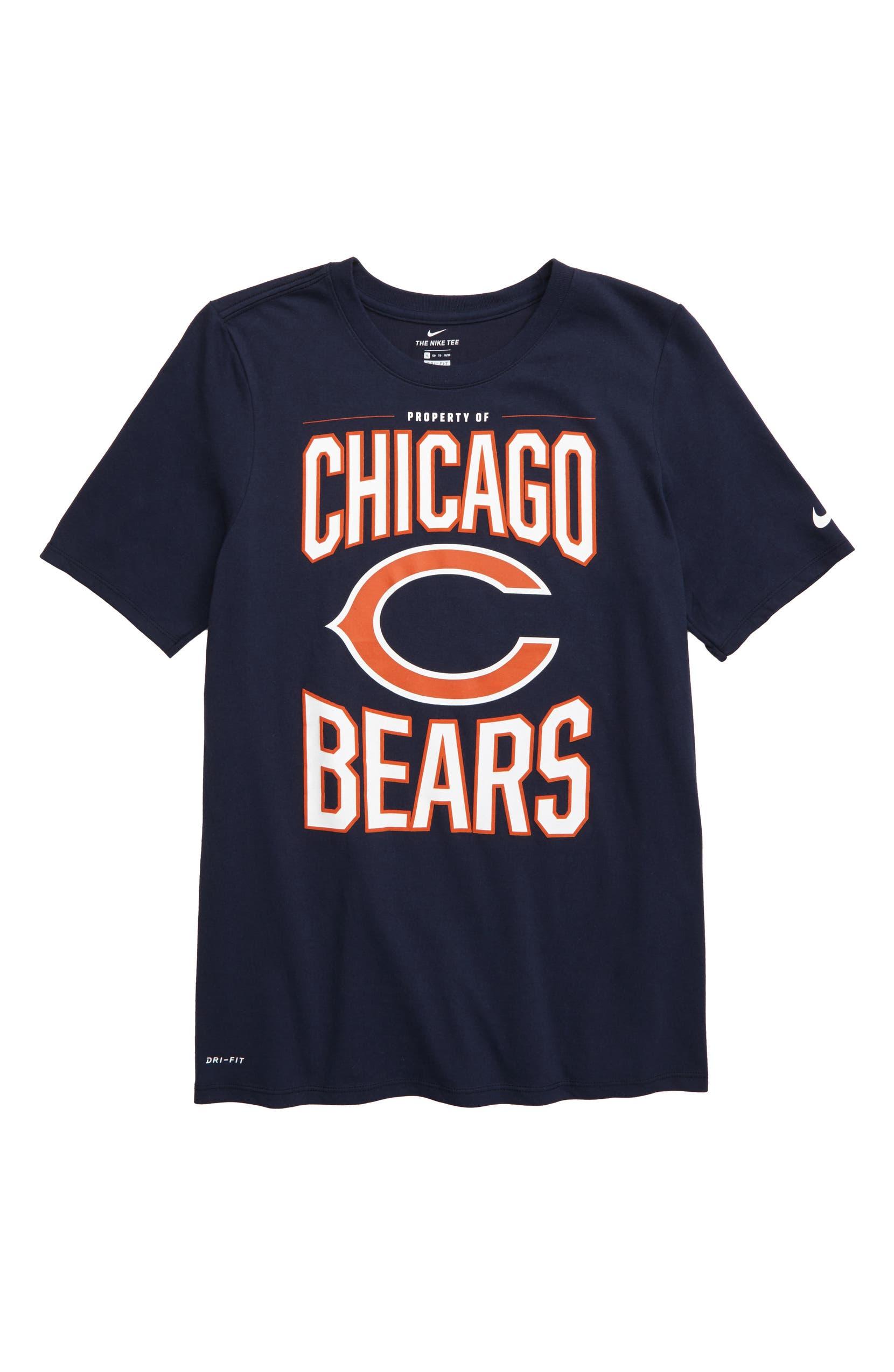 5fffab46 Nike NFL Logo Property of Chicago Bears Dri-FIT T-Shirt (Big Boys ...