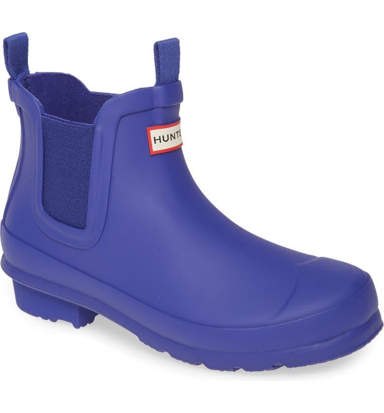 HUNTER Original Chelsea Rain Boot, Main, color, ELECTRIC STORM