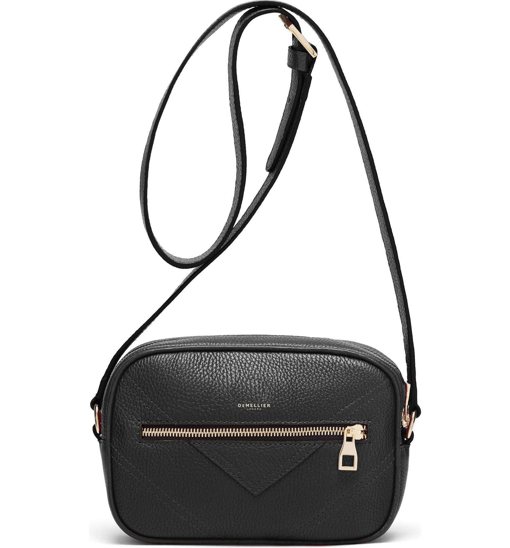 69c3328bdc3 Manhattan Grained Leather Crossbody Bag