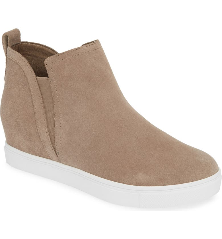 BLONDO Georgette Waterproof Hidden Wedge Sneaker, Main, color, MUSHROOM SUEDE
