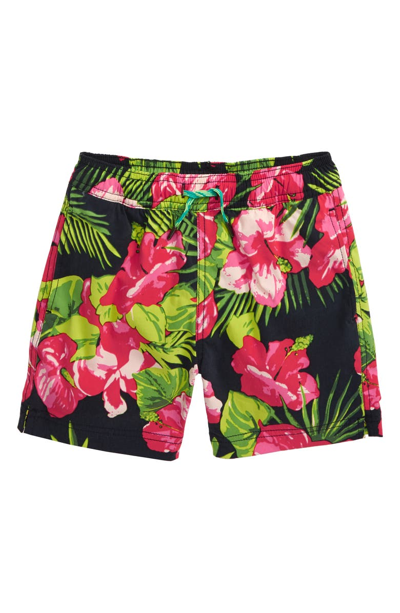 CREWCUTS BY J.CREW Aloha Floral Swim Trunks, Main, color, 650