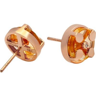 Conges Success & Comfort Citrine Stud Earrings