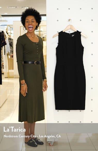 Sleeveless Crepe Sheath Dress, sales video thumbnail