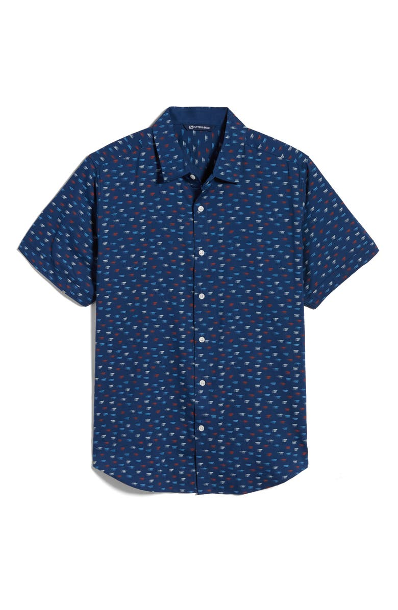 CUTTER & BUCK Windward Short Sleeve Button-Up Shirt, Main, color, 468