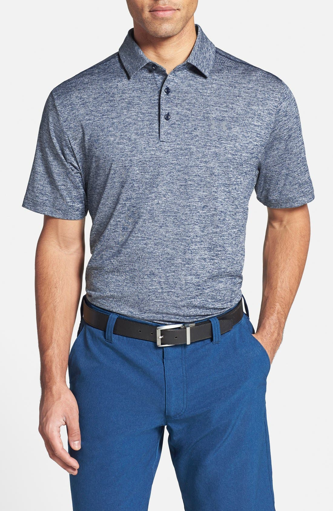 ,                             'Playoff' Loose Fit Short Sleeve Polo,                             Main thumbnail 223, color,                             409