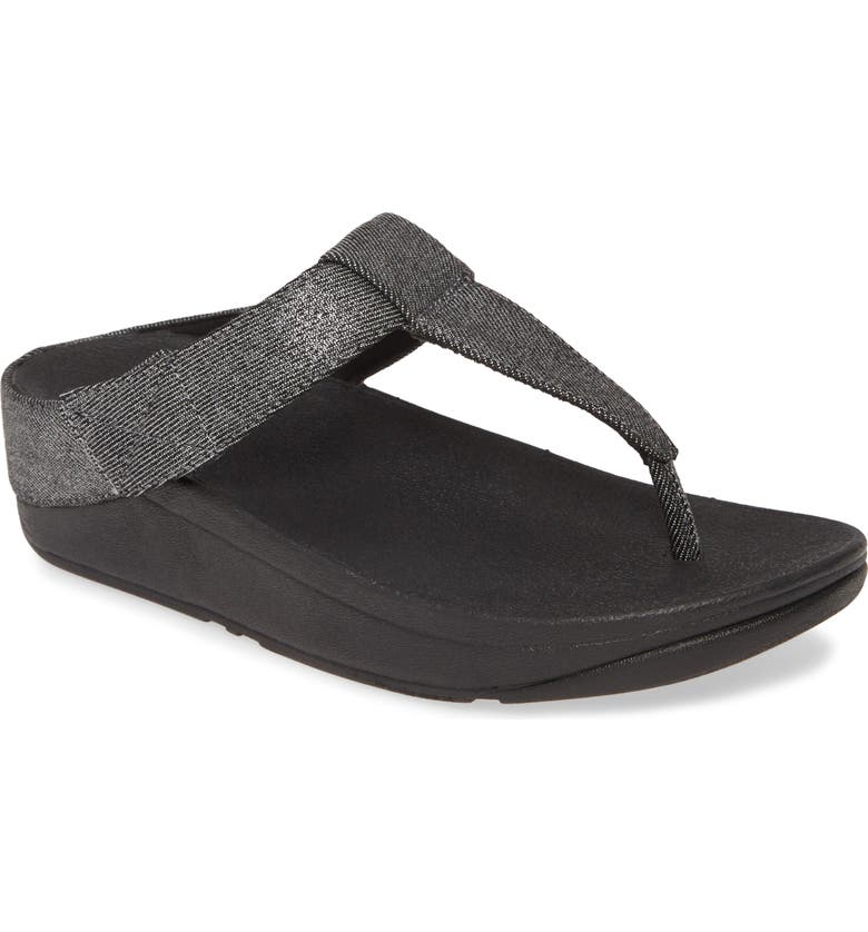 FITFLOP Mina Flip Flop, Main, color, ALL BLACK FABRIC