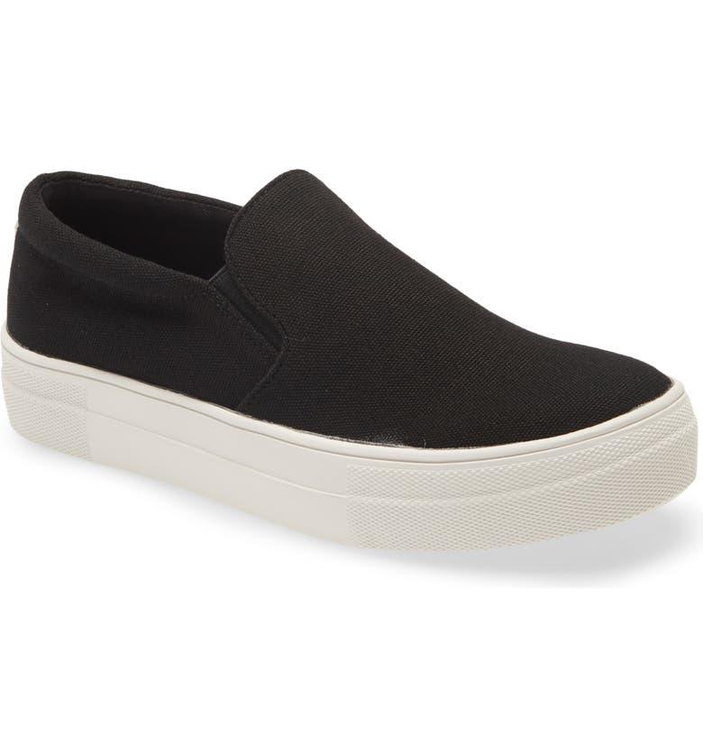 STEVE MADDEN Gills Platform Slip-On Sneaker, Main, color, BLACK