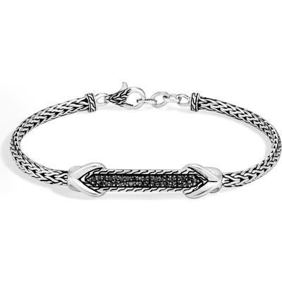 John Hardy Asli Classic Chain Pave Station Bracelet