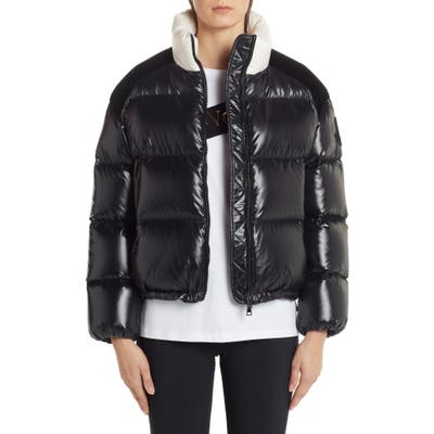 Moncler Chouelle Logo Print Quilted Down Puffer Jacket