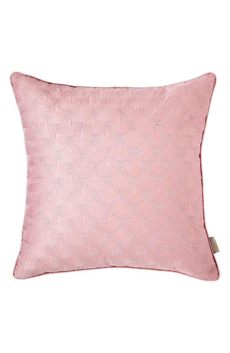 TED BAKER LONDON Dottie Embroidered Accent Pillow, Main, color, PINK