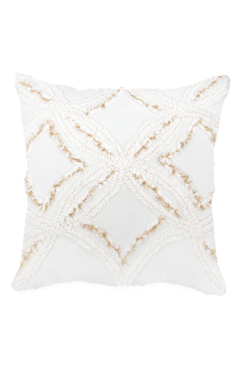 PERI HOME Metallic Chenille Pillow, Main, color, IVORY