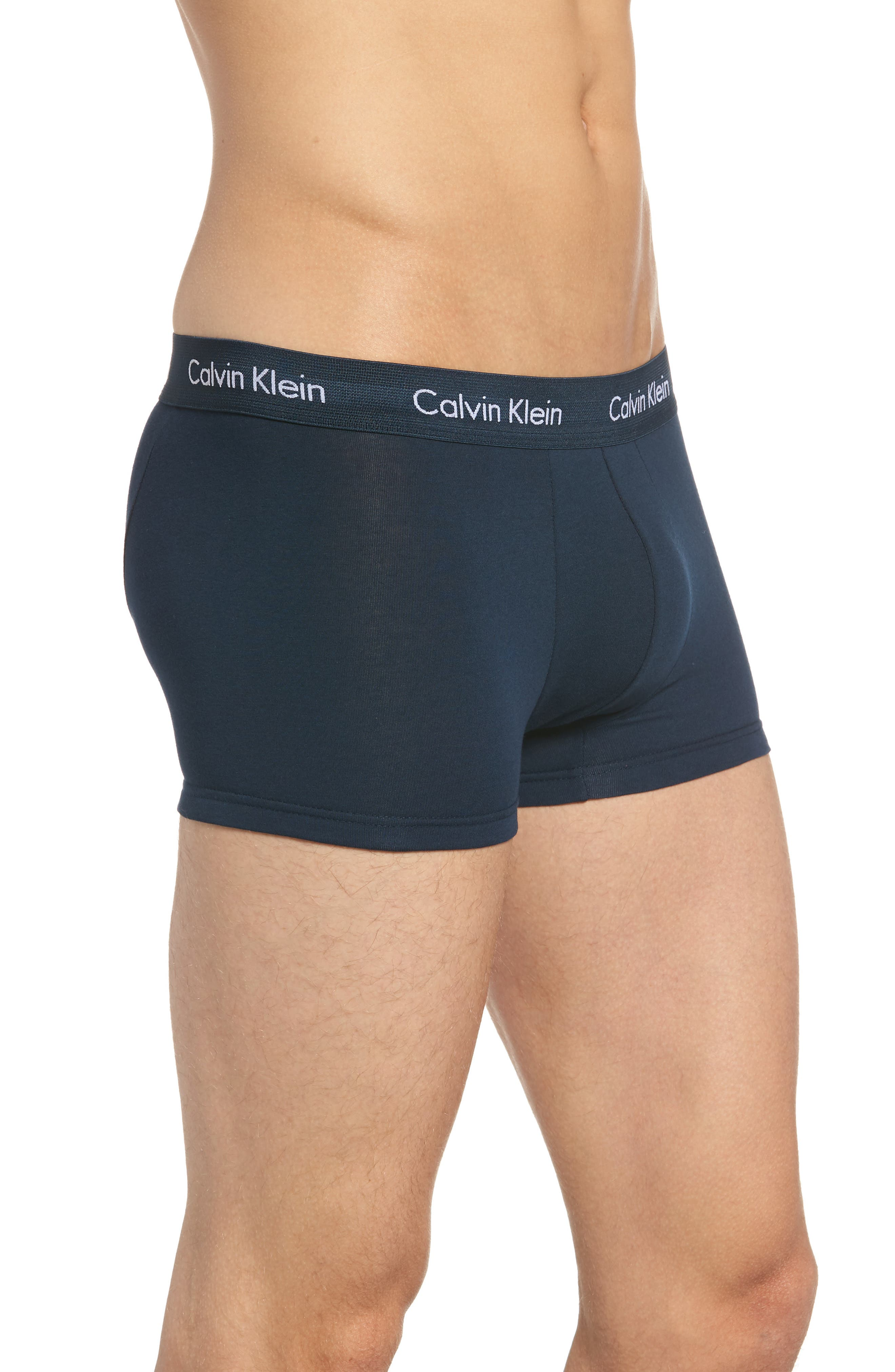 ,                             3-Pack Stretch Cotton Low Rise Trunks,                             Alternate thumbnail 130, color,                             464