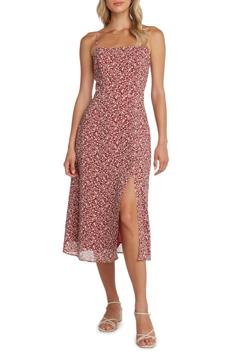 WILLOW Wendy Spaghetti Strap Midi Dress, Main, color, 930