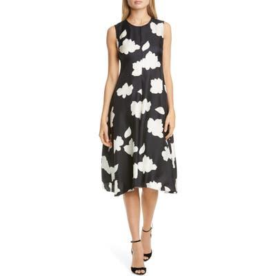 Theory Nophella Drop Waist Silk Dress, Black