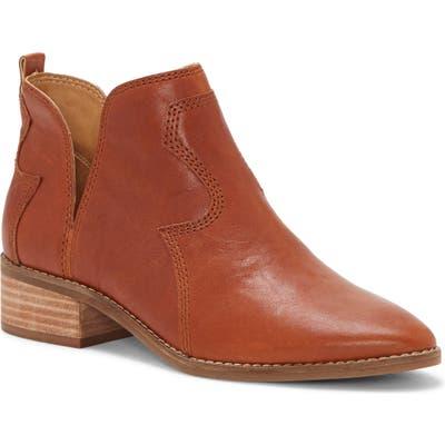 Lucky Brand Leymon Western Bootie, Brown